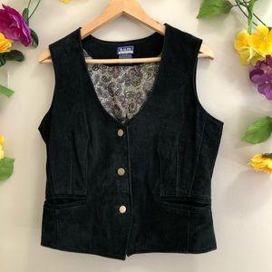 BUM B.U.M. EQUIPMENT Black Leather (Suede) Vest
